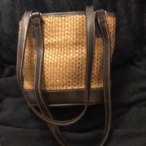 Straw/. Dark brown leather Liz Claiborne